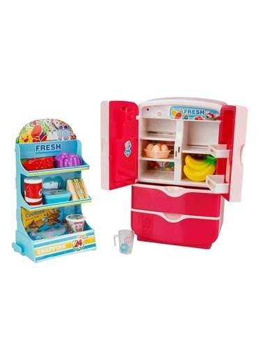 Sunman Sunman 2576 Sunman Little Chef Sesli ve Işıklı Buzdolabı Oyuncak Seti Renkli